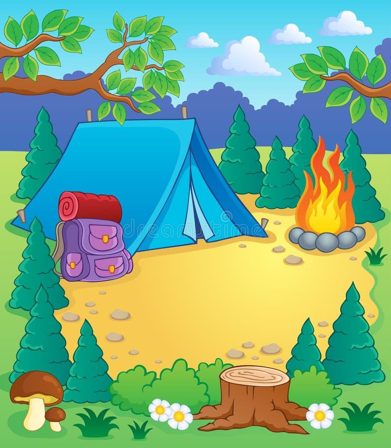 картинка про лагерь рисунок палатки блюду
