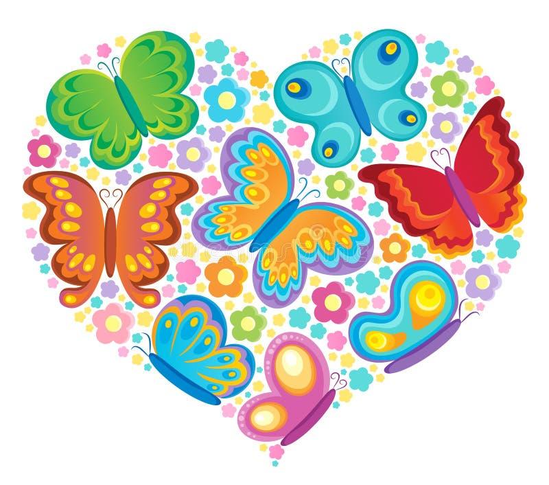 Изображение темы бабочки иллюстрация штока