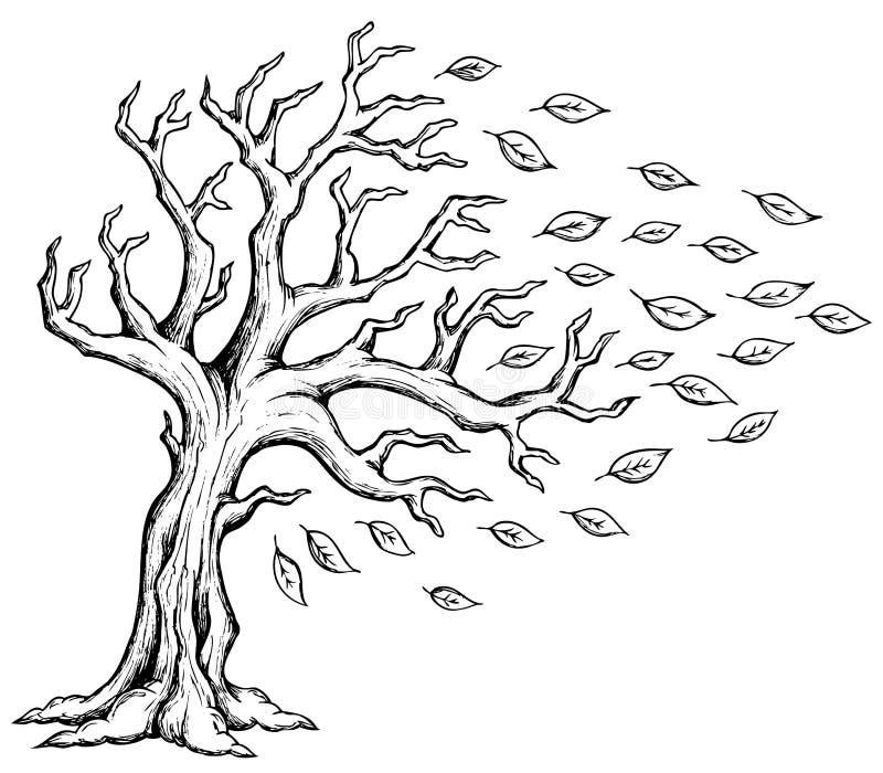 Изображение 2 темы дерева осени иллюстрация вектора