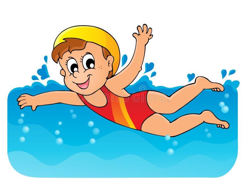 Изображение 1 темы заплывания иллюстрация штока