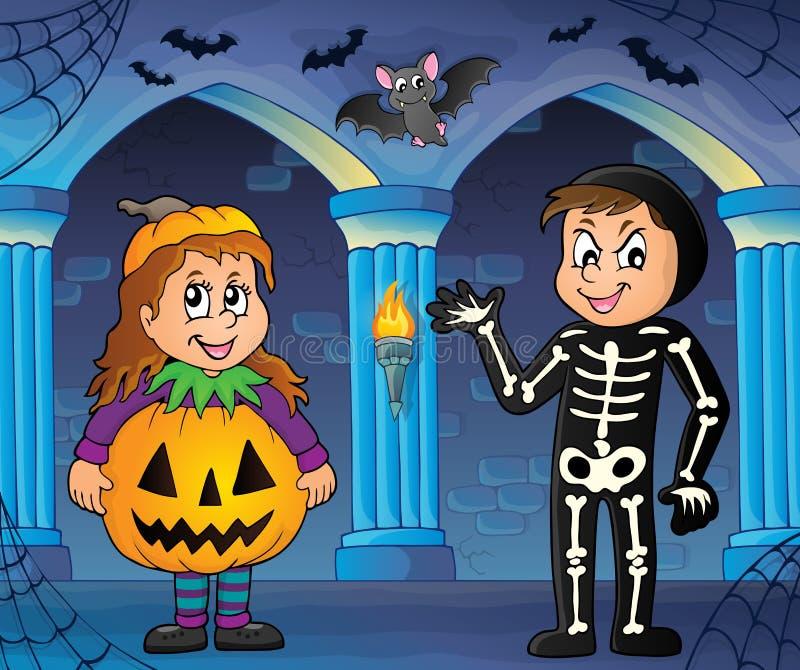 Изображение 3 темы костюмов хеллоуина иллюстрация вектора