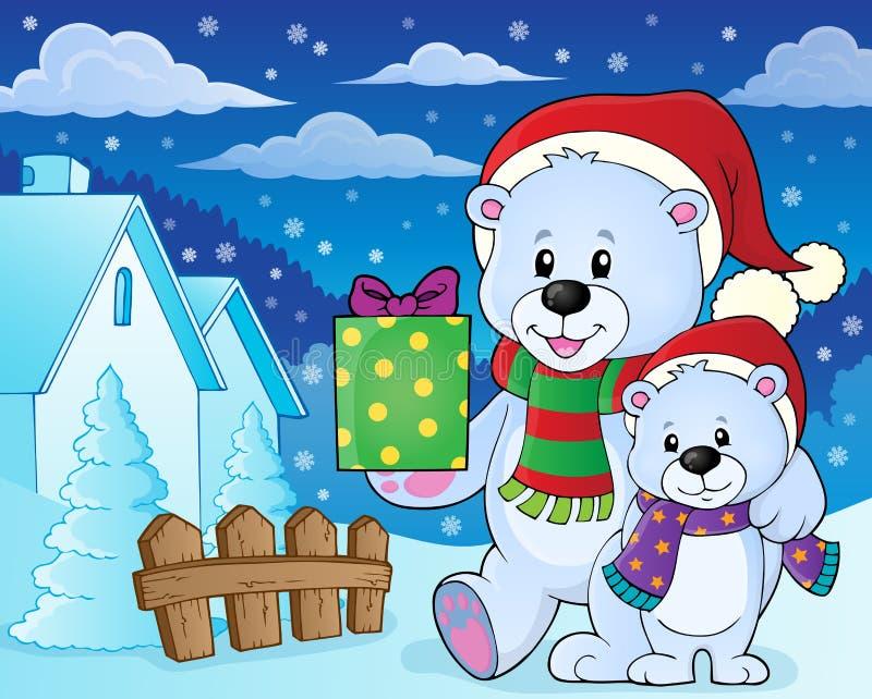Изображение 7 темы медведей рождества иллюстрация штока