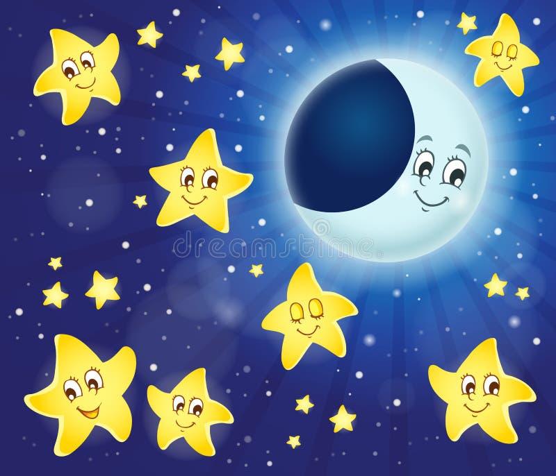 Изображение 4 темы ночного неба иллюстрация штока
