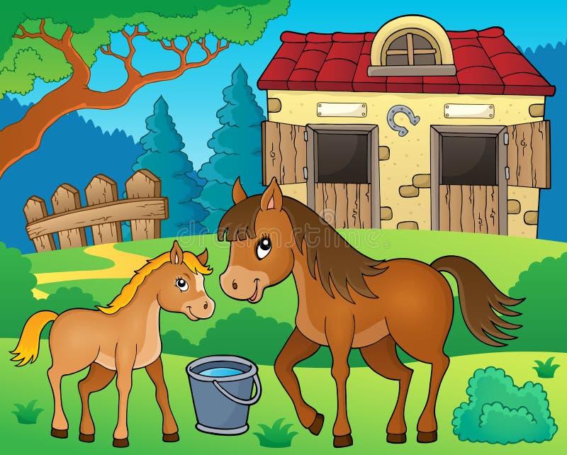 Изображение 6 темы лошади бесплатная иллюстрация