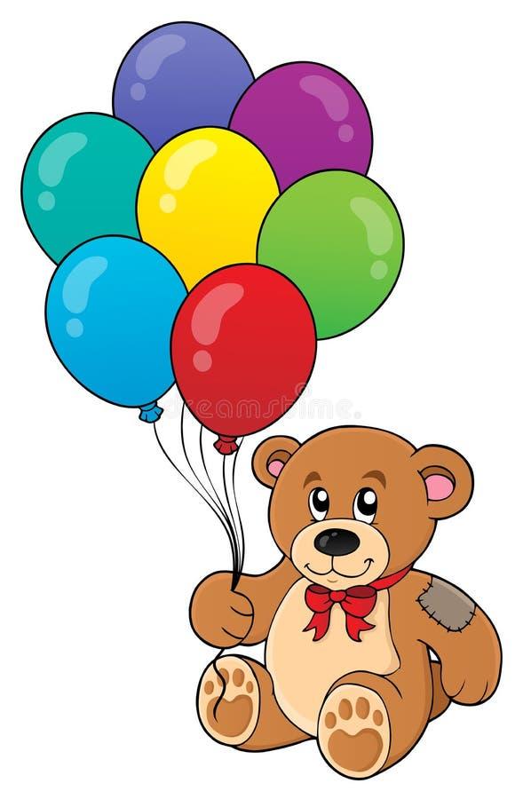 Изображение 1 темы плюшевого медвежонка партии иллюстрация штока