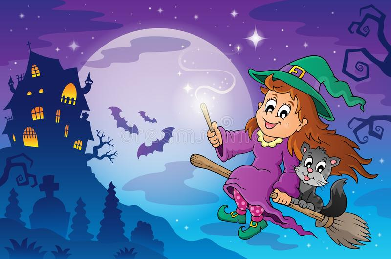 Изображение 7 темы хеллоуина иллюстрация вектора