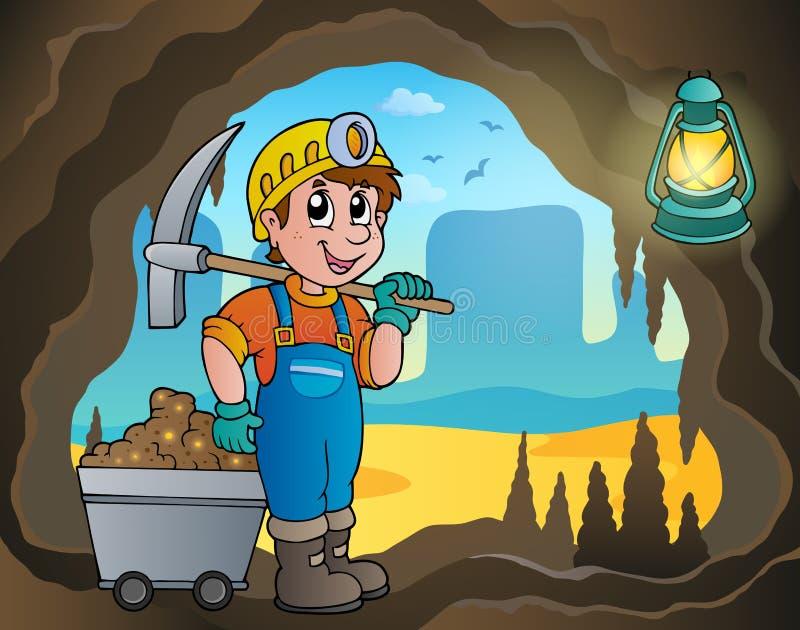 Изображение 4 темы шахты иллюстрация вектора