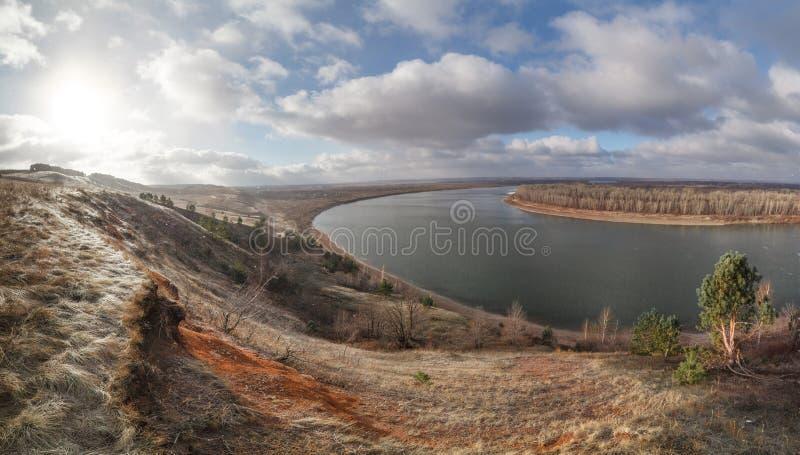 Изображение фото настроения в ноябре, панорама стоковые изображения rf