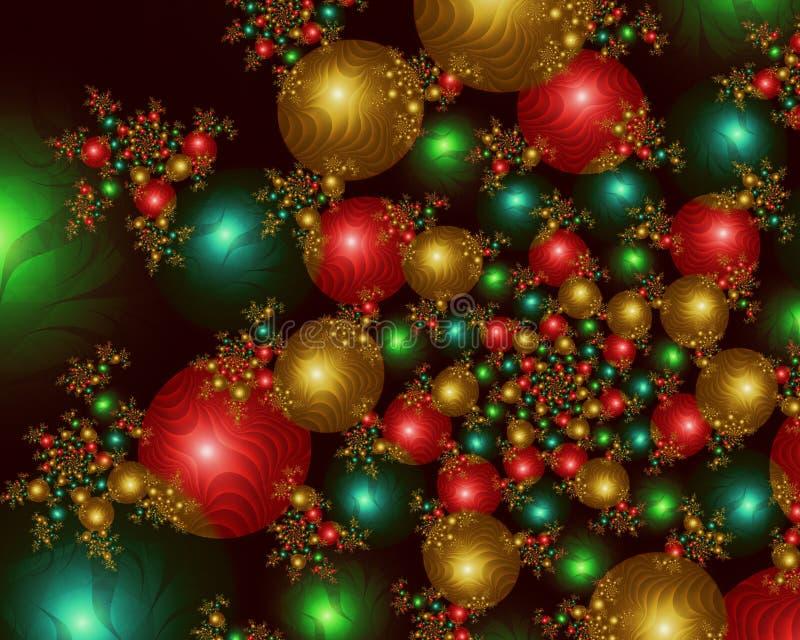 изображение фрактали рождества шариков инфинитное бесплатная иллюстрация