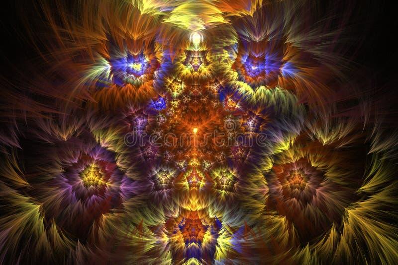 Изображение фрактали: виртуальный калейдоскоп бесплатная иллюстрация