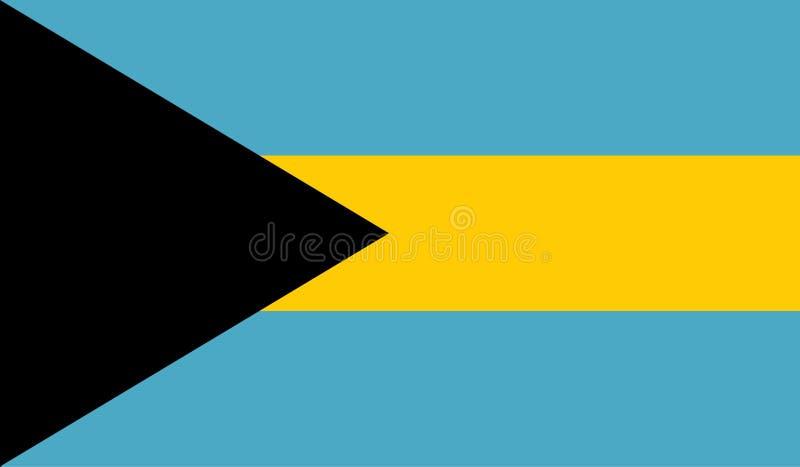 Изображение флага Багамских островов иллюстрация вектора