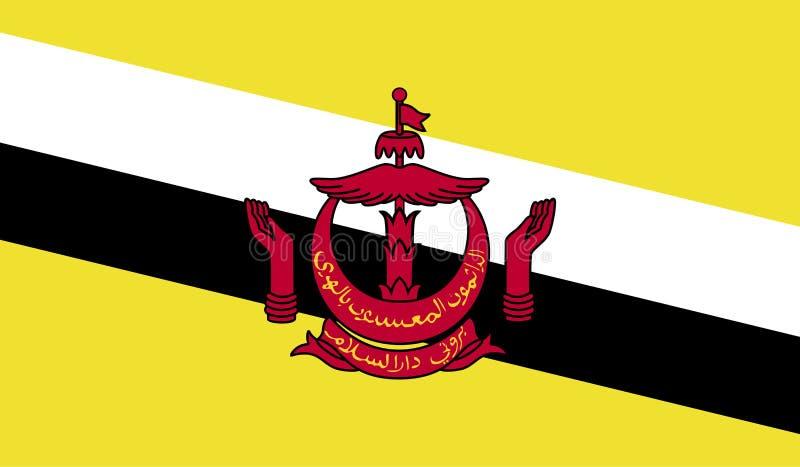 Изображение флага Брунея иллюстрация вектора