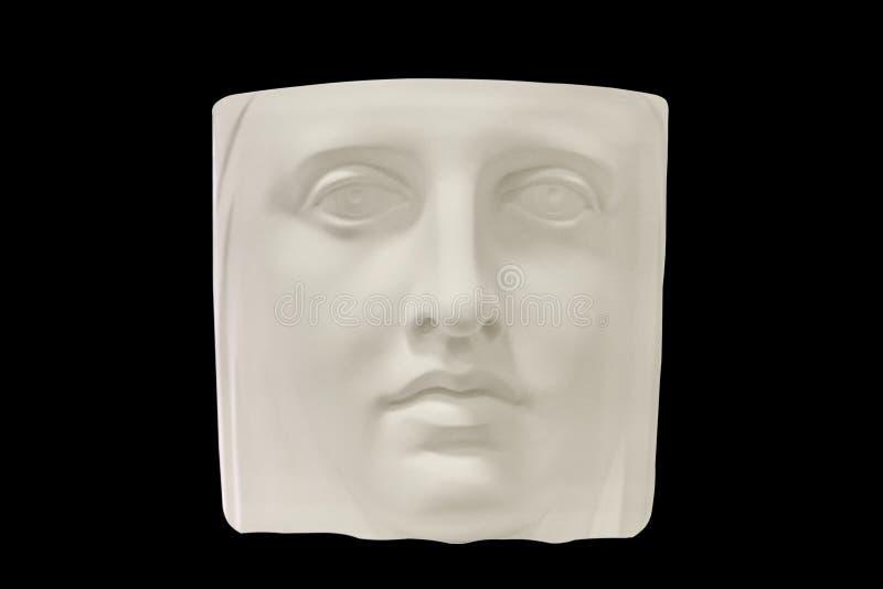 Изображение части головы гипсолита человека на черной предпосылке Природа для учить нарисовать стоковые фото