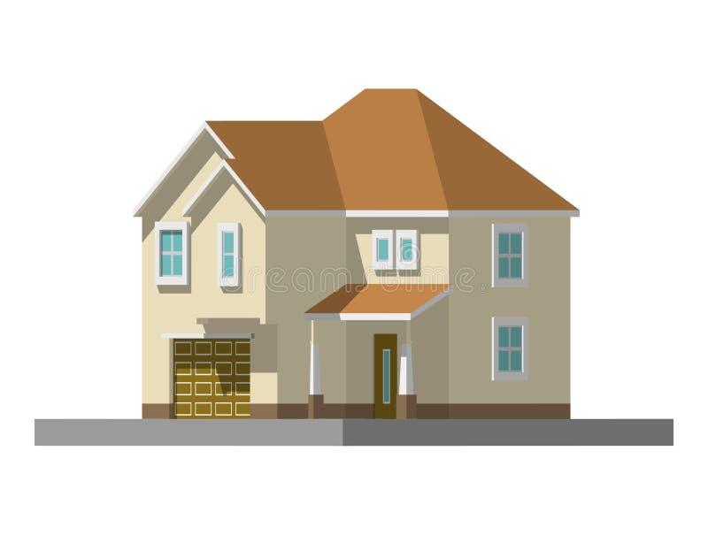 Изображение частного дома также вектор иллюстрации притяжки corel иллюстрация вектора