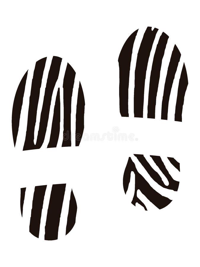 Изображение человеческого следа ноги ботинка иллюстрация вектора