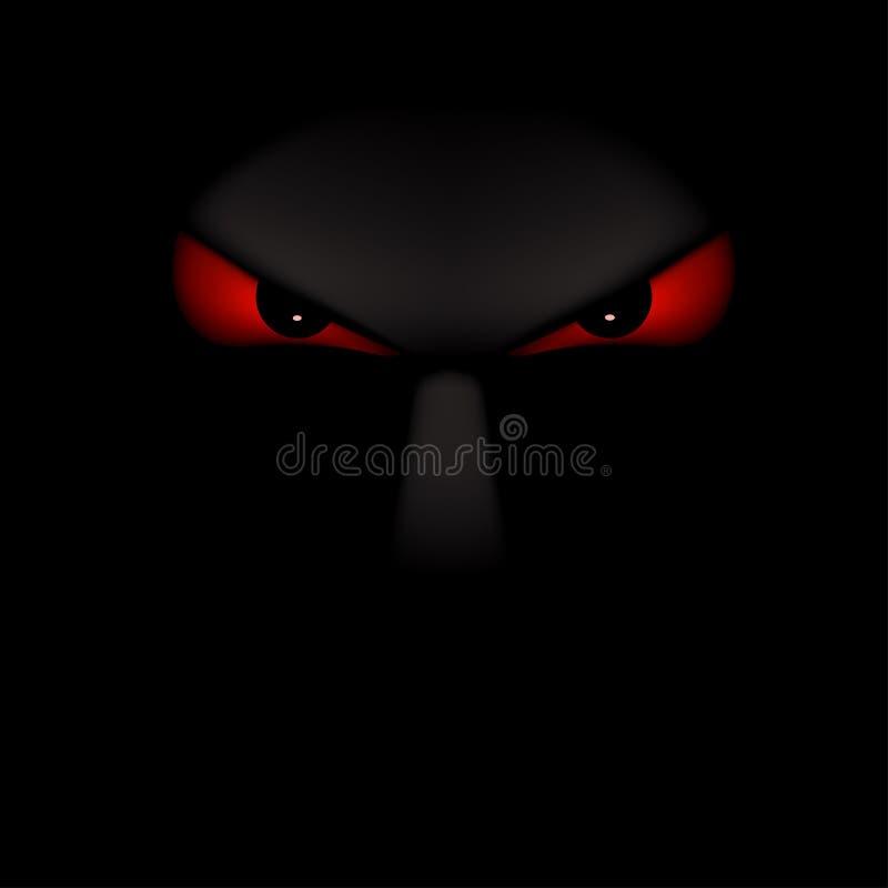 Изображение черноты призрака иллюстрация штока