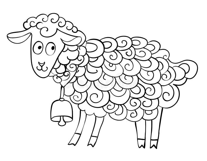 Изображение шаржа козы иллюстрация штока