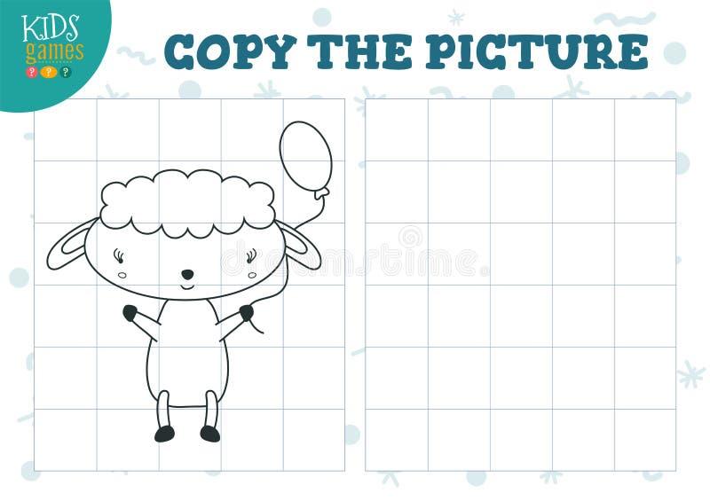 Изображение экземпляра иллюстрацией вектора решетки Воспитательная мини игра, головоломка для preschool детей бесплатная иллюстрация