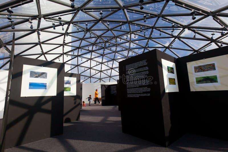 Экспонат на башне Brasilia цифров TV стоковое фото rf