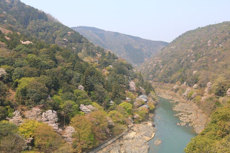 Изображение Arashiyama весны стоковая фотография