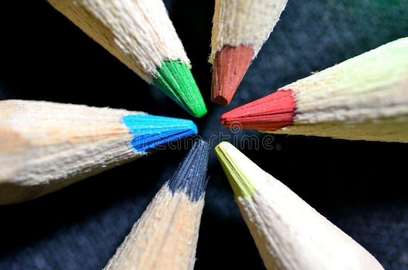 Изображение Close-up multicolor карандашей стоковые изображения