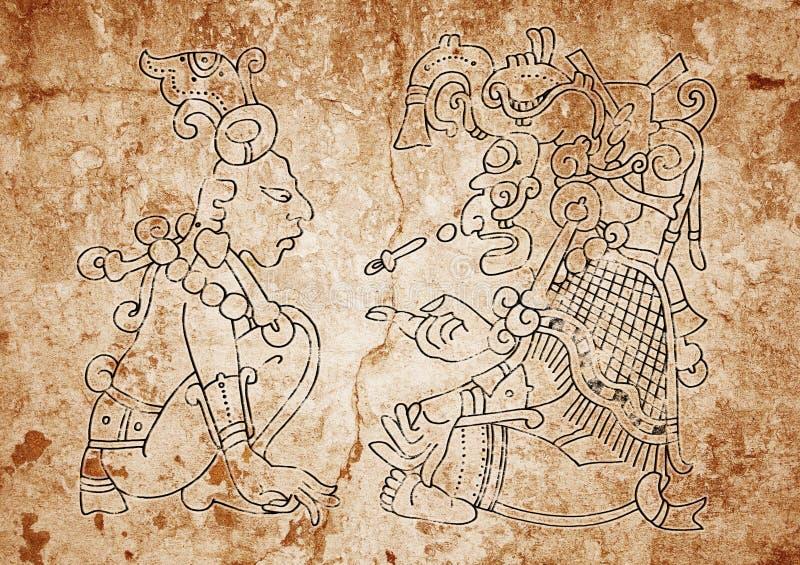 изображение dresden codex майяское иллюстрация вектора