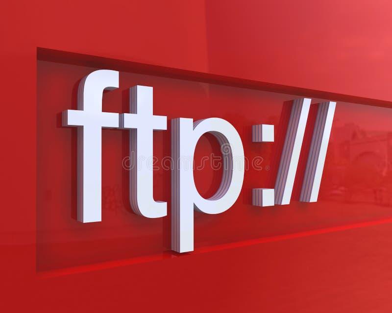 изображение ftp принципиальной схемы иллюстрация вектора