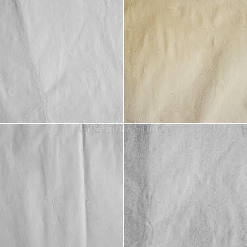 4 изображения бумажного листа (высокого res ), то стоковое изображение