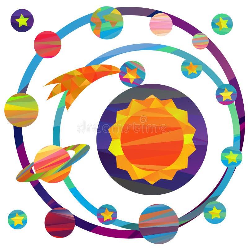Изображения вектора планет иллюстрация вектора