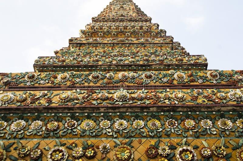 Изображения детали картины stupa Wat Pho стоковое фото