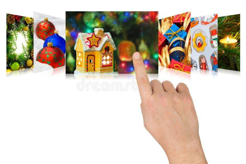 Изображения рождества scrolling руки стоковые фотографии rf