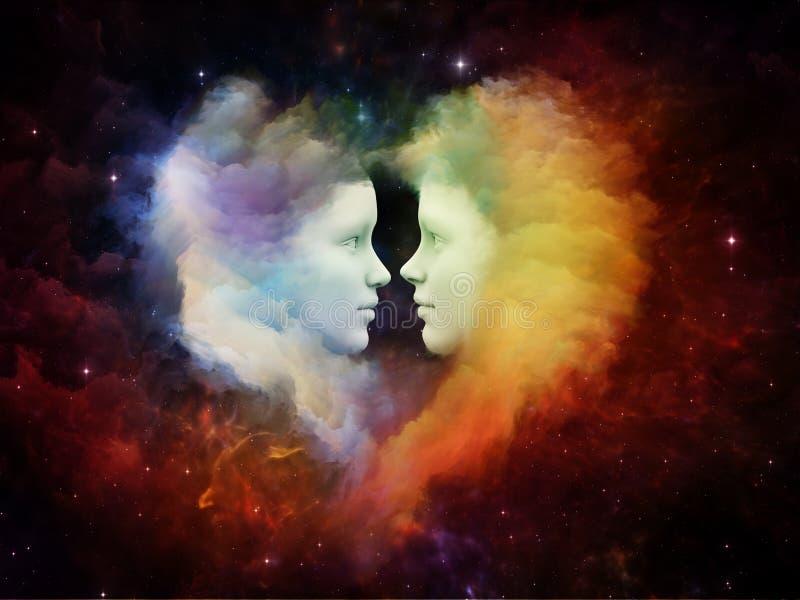 изображения сердец сердца предпосылки тусклые иллюстрация штока