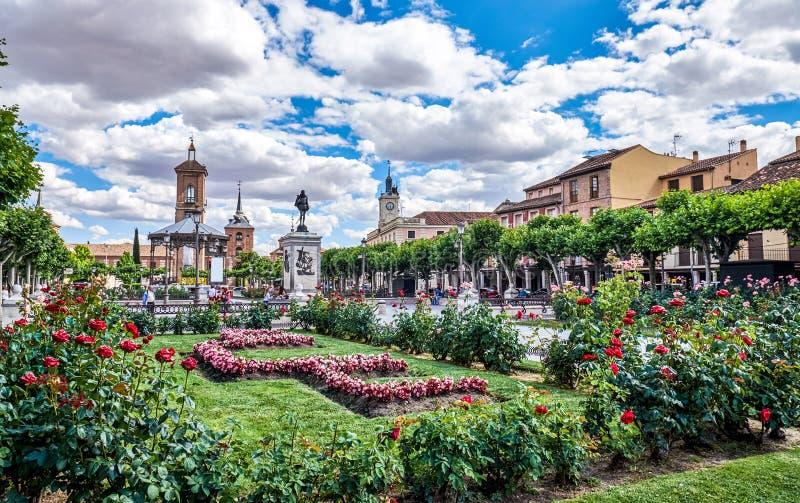 Изображения старых районов Alcala de Henares, Испании стоковая фотография rf