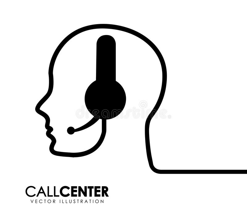 изображения центра телефонного обслуживания предпосылки 3d изолировали белизну иллюстрация вектора