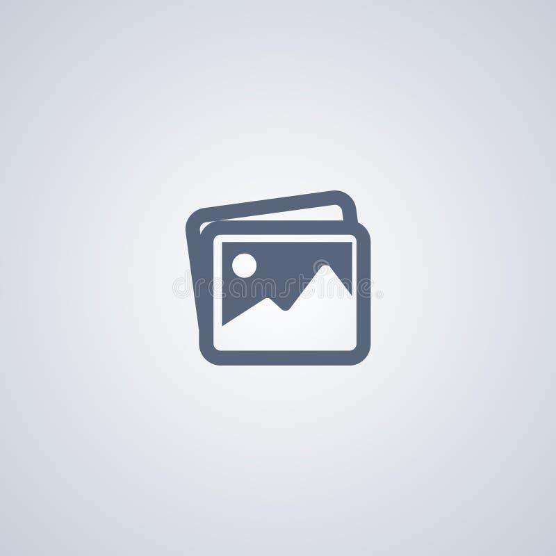 Изображения, изображения, vector самый лучший плоский значок иллюстрация штока