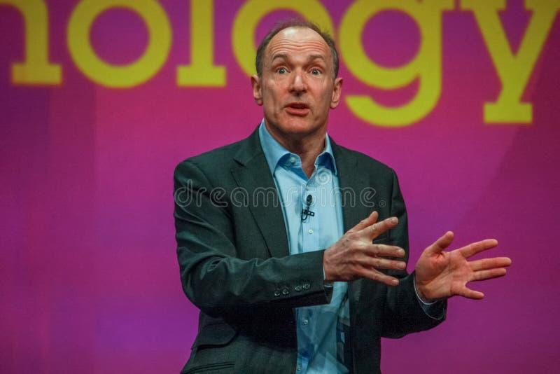 Изобретатель и основатель господина Tim Berners-lee Всемирного Веба стоковые фото