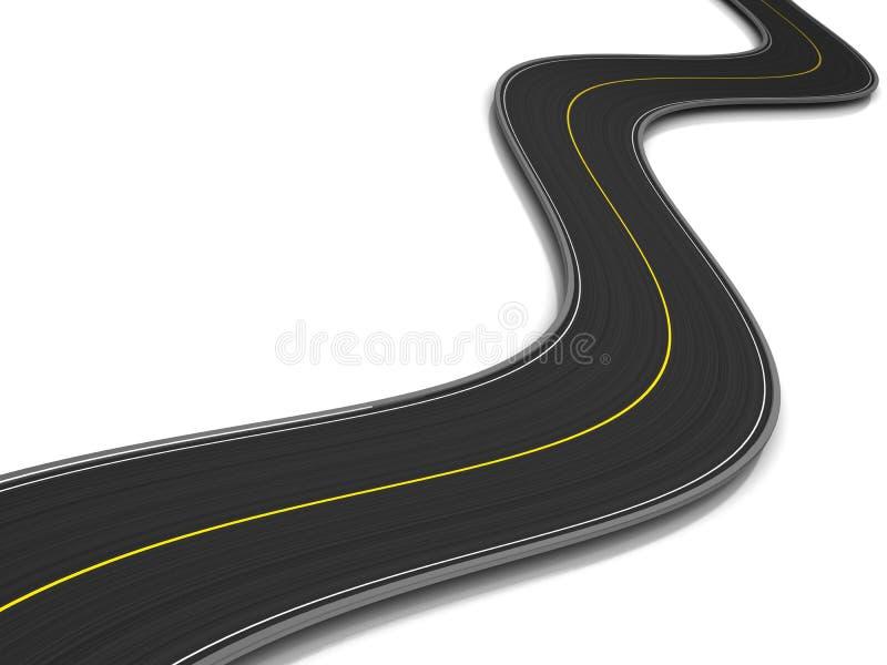 изогнутая дорога бесплатная иллюстрация