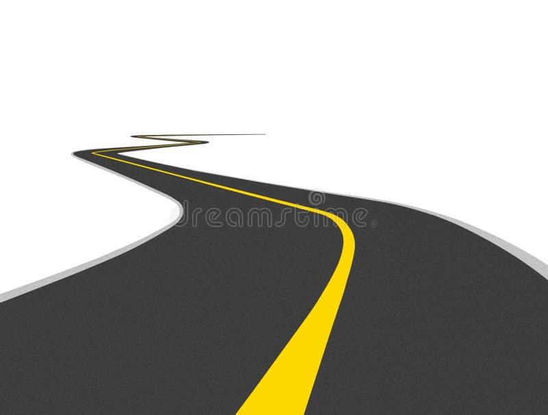 Изогнутая дорога иллюстрация штока
