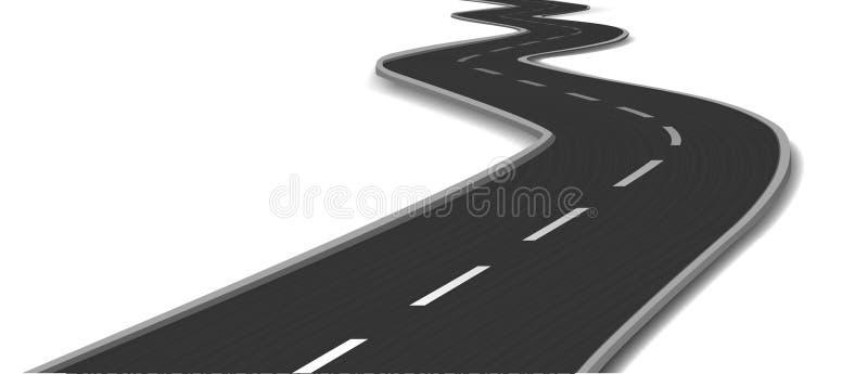 Изогнутая дорога. Вектор бесплатная иллюстрация