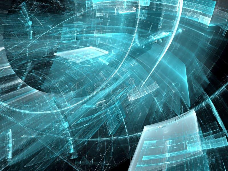 Изогнутая предпосылка технологии - резюмируйте цифров произведенное imag иллюстрация вектора