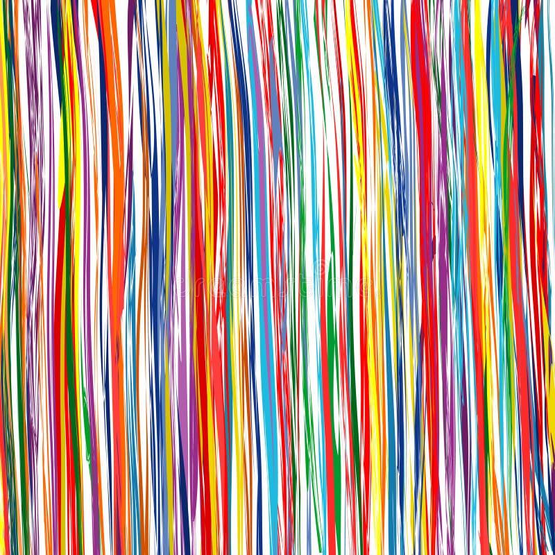 Изогнутая радуга stripes предпосылка вектора искусства цветного барьера иллюстрация вектора