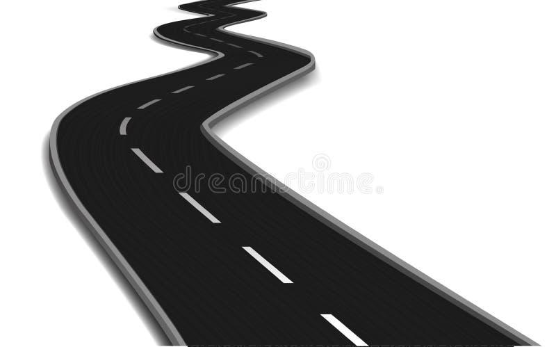 Изогнутый мост дороги. Вектор иллюстрация вектора
