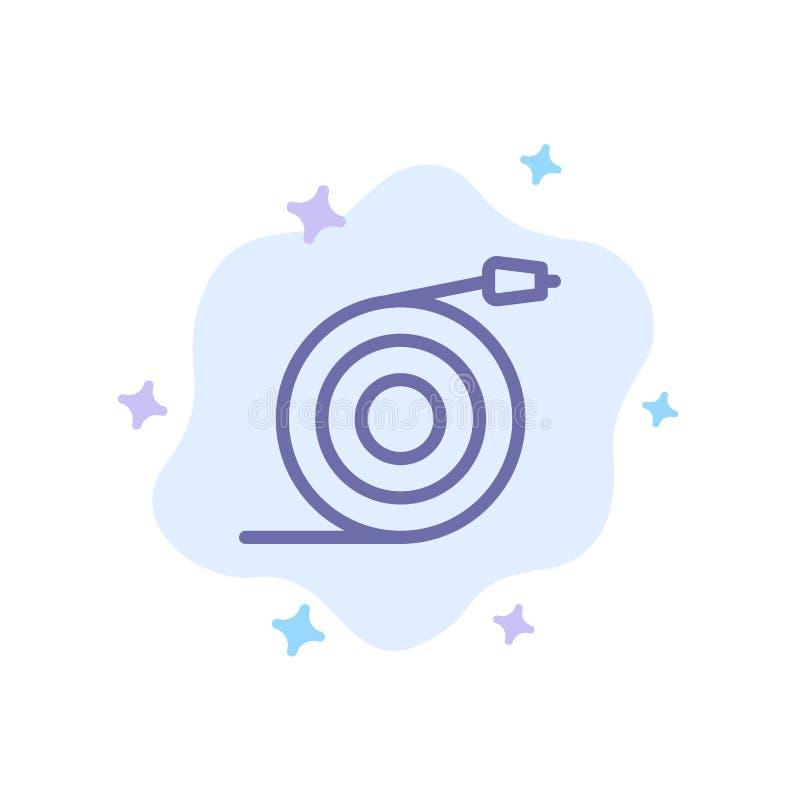 Изогнутый, подача, труба, значок воды голубой на абстрактной предпосылке облака иллюстрация вектора