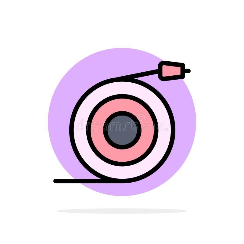 Изогнутый, подача, труба, предпосылки круга воды значок цвета абстрактной плоский иллюстрация вектора
