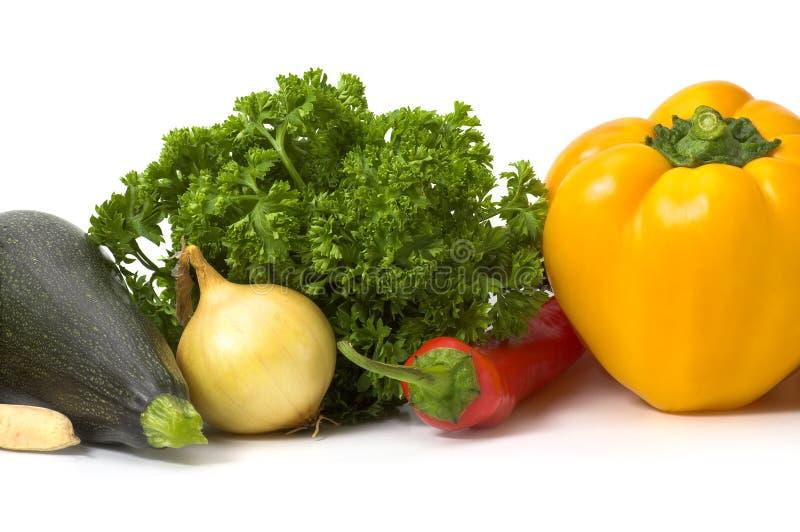 изолировал несколько овощей стоковое изображение rf