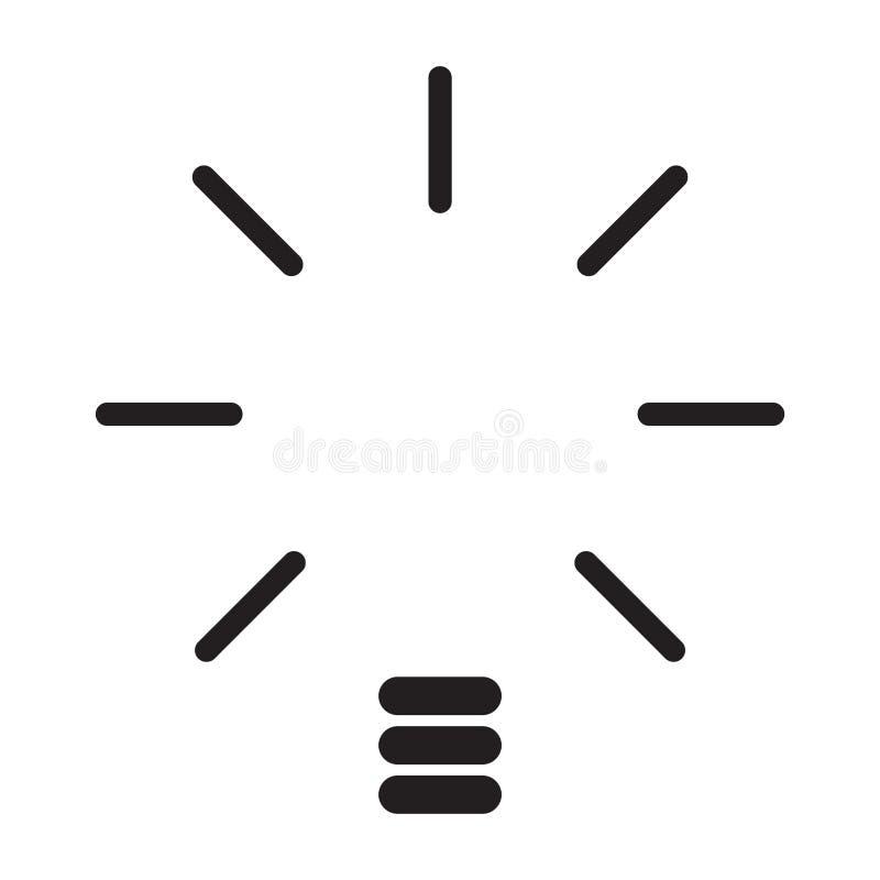 Изолированная абстрактная концепция лампочки иллюстрация штока