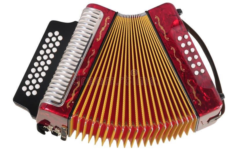 изолированная аккордеоня стоковые изображения rf