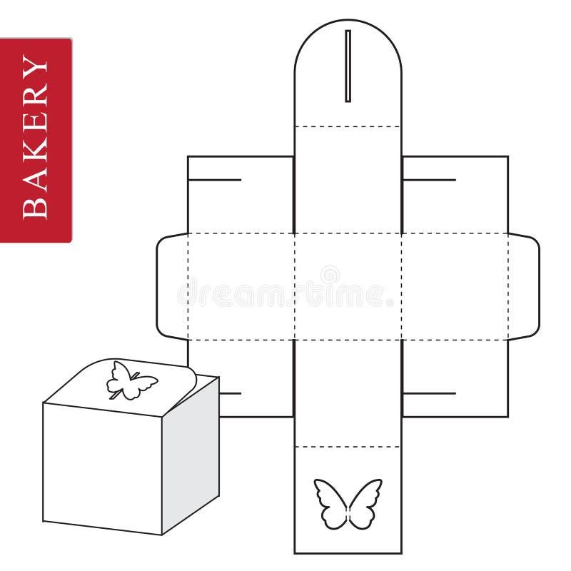 Изолированная белая розничная насмешка вверх Концепция бабочки иллюстрация штока