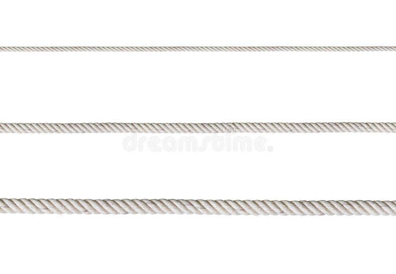 изолированная белизна веревочки стоковые фотографии rf
