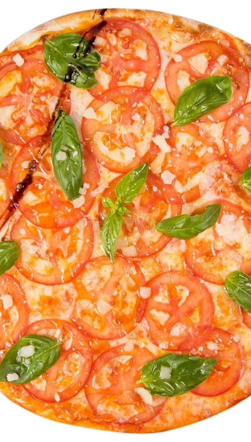 изолированная белизна пиццы стоковое изображение rf